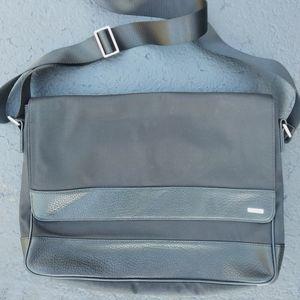 Calvin Klein Men's Leather Trim Messenger Bag